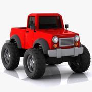 卡通吉普车 3d model