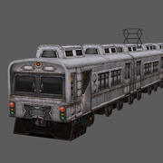 Low Poly Train 02 3d model