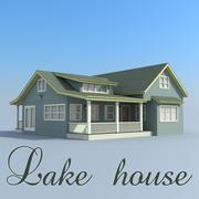 дом у озера 3d model