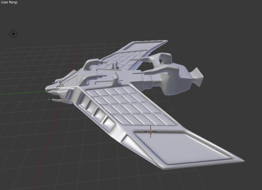 SpaceShip Tessarae royalty-free 3d model - Preview no. 12