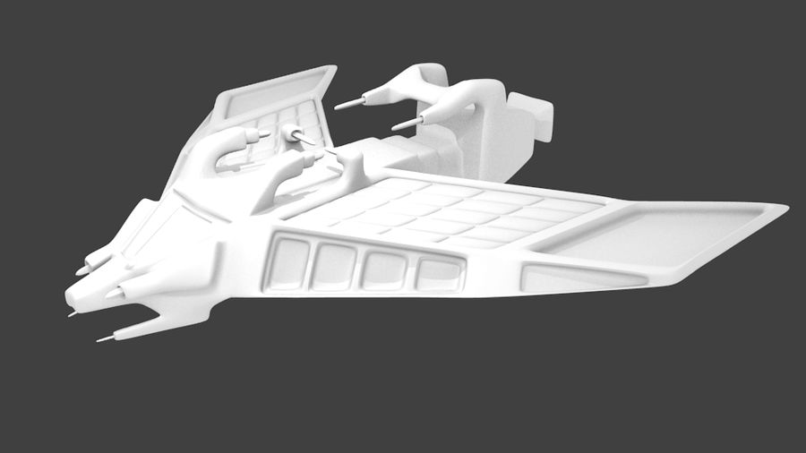 SpaceShip Tessarae royalty-free 3d model - Preview no. 8