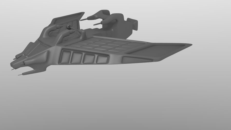 SpaceShip Tessarae royalty-free 3d model - Preview no. 3