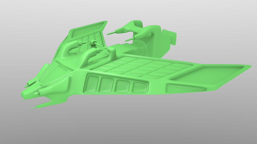 SpaceShip Tessarae royalty-free 3d model - Preview no. 7