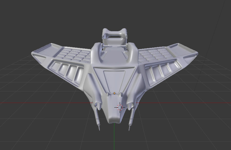 SpaceShip Tessarae royalty-free 3d model - Preview no. 11
