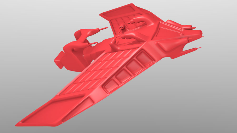 SpaceShip Tessarae royalty-free 3d model - Preview no. 4