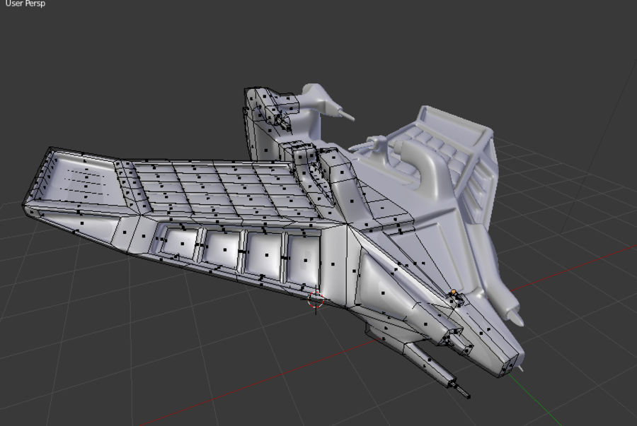 SpaceShip Tessarae royalty-free 3d model - Preview no. 10