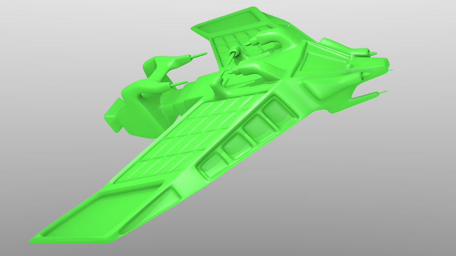 SpaceShip Tessarae royalty-free 3d model - Preview no. 9
