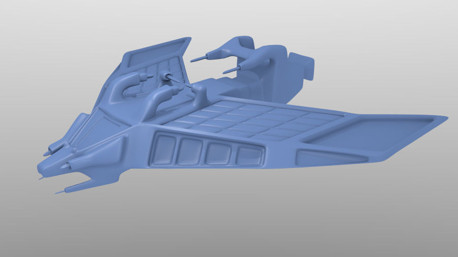 SpaceShip Tessarae royalty-free 3d model - Preview no. 1