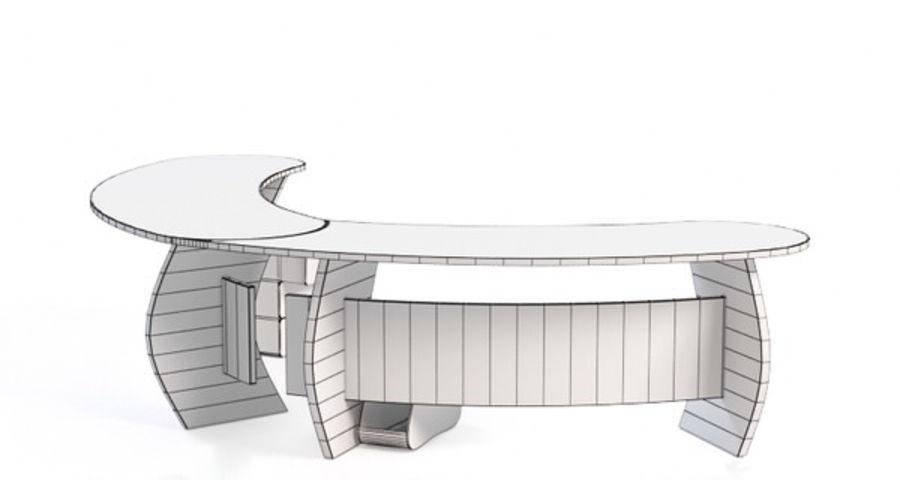 Zakrzywione biurko biurowe royalty-free 3d model - Preview no. 4