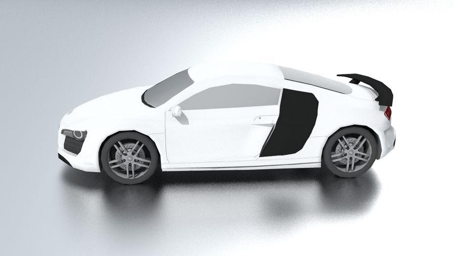 Audi R8 low poly royalty-free 3d model - Preview no. 3