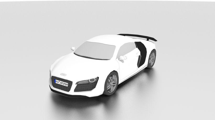 Audi R8 low poly royalty-free 3d model - Preview no. 1