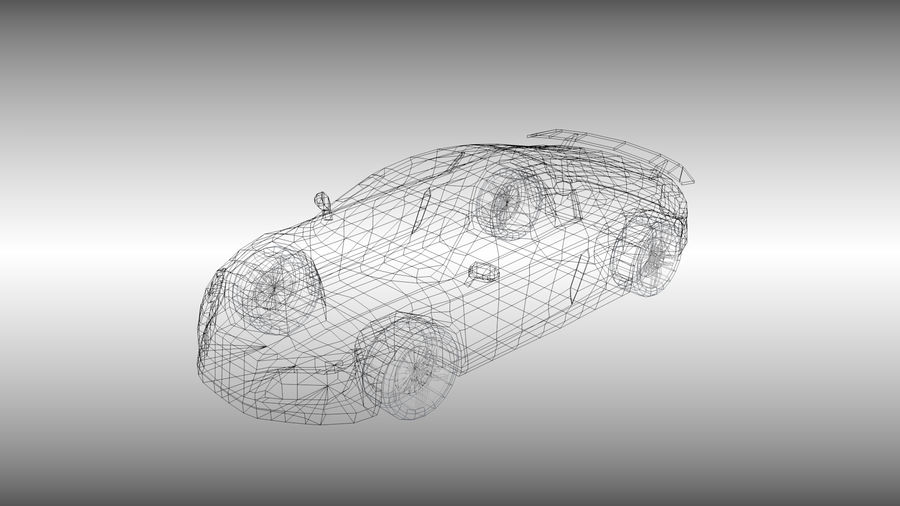 Audi R8 low poly royalty-free 3d model - Preview no. 2