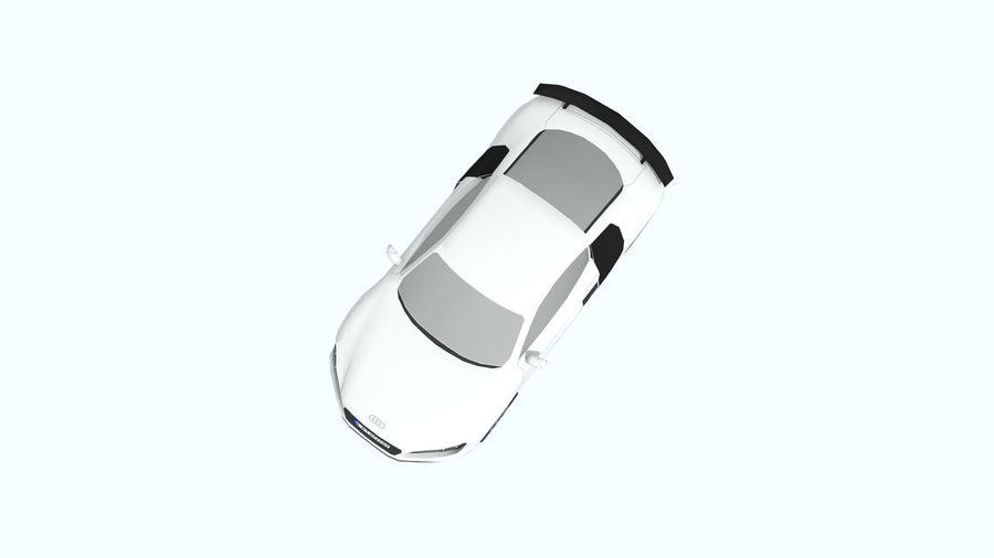 Audi R8 low poly royalty-free 3d model - Preview no. 5