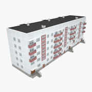 Soviet Panel Apartment House 3d model