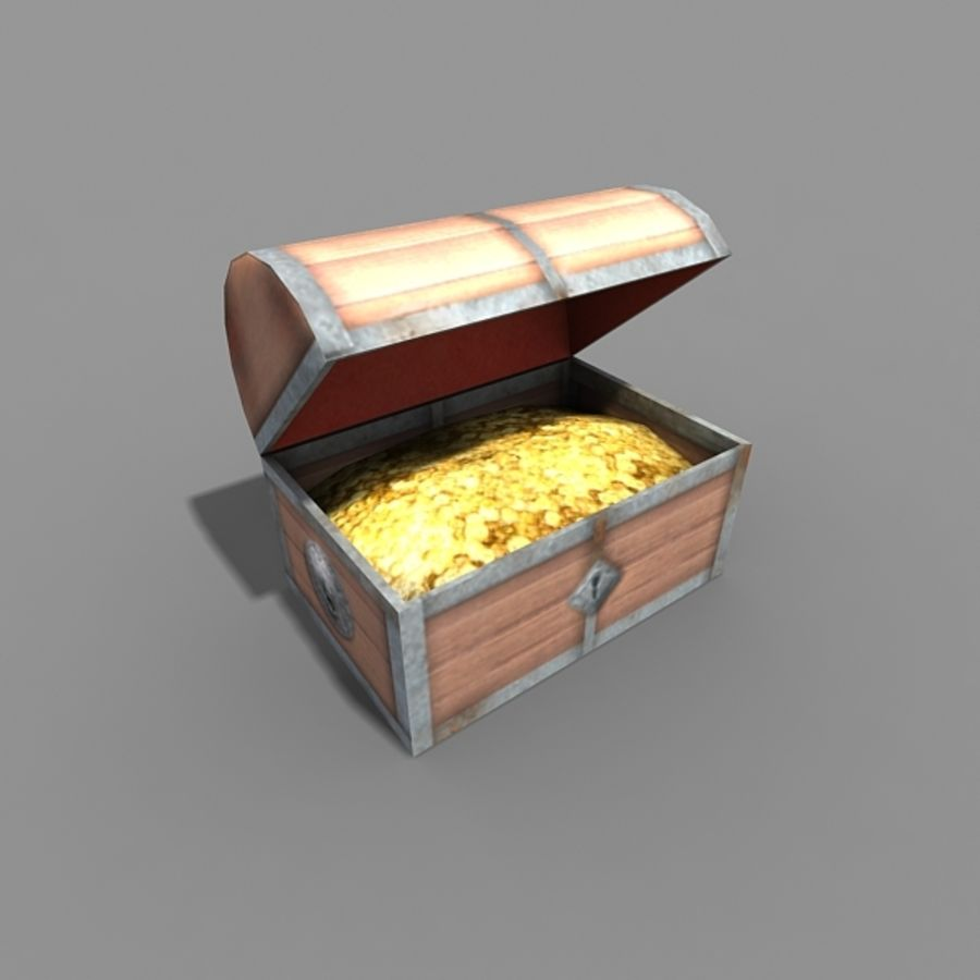 Cofre del tesoro royalty-free modelo 3d - Preview no. 2