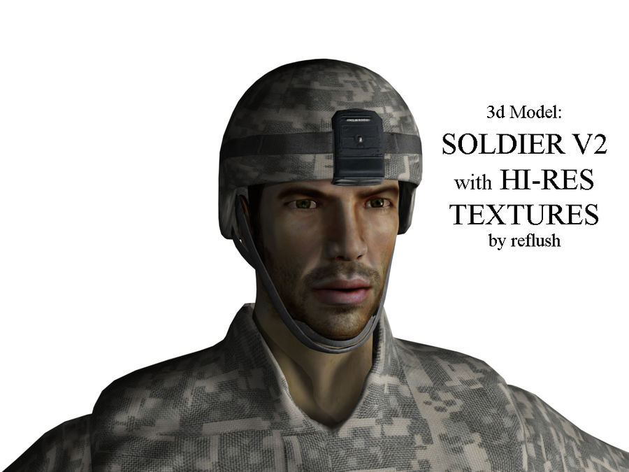 Us soldier V2 royalty-free 3d model - Preview no. 1