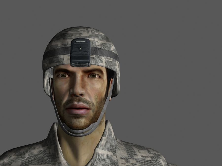 Us soldier V2 royalty-free 3d model - Preview no. 9