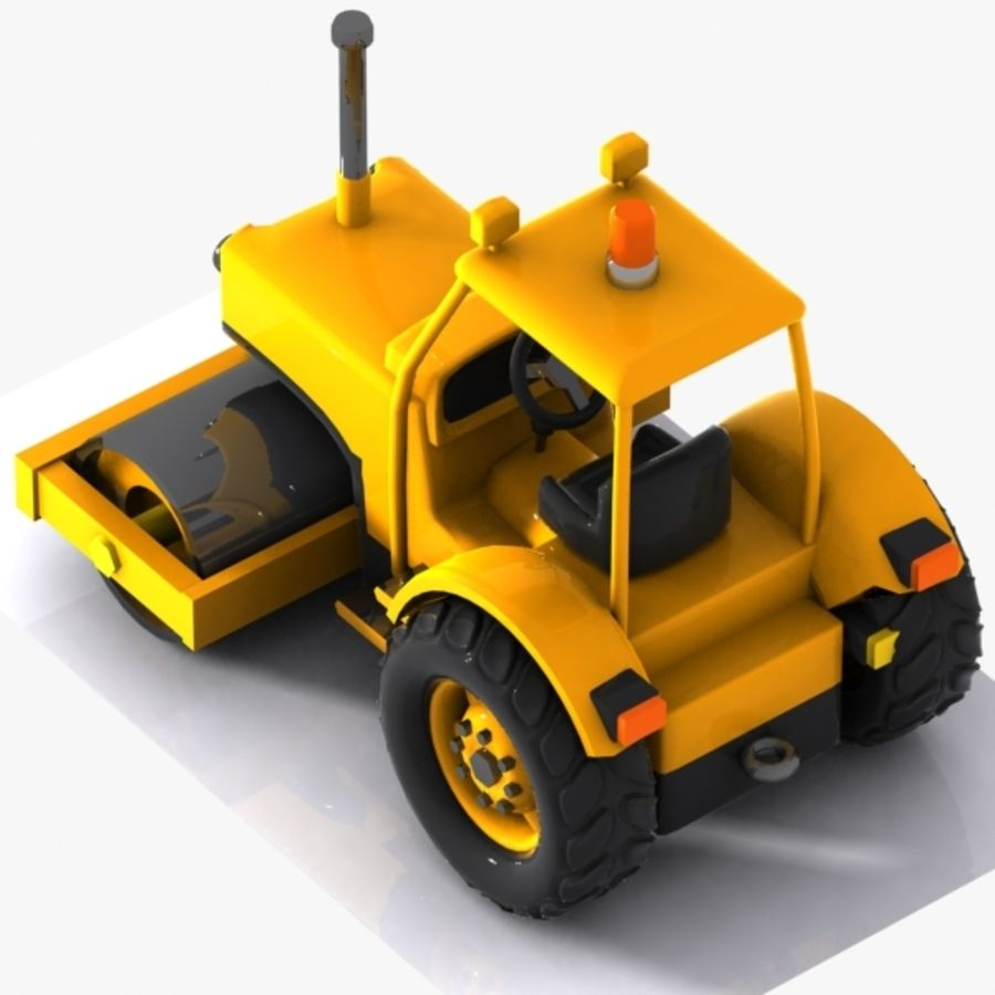 Cartoon Road Roller 2 royalty-free 3d model - Preview no. 6