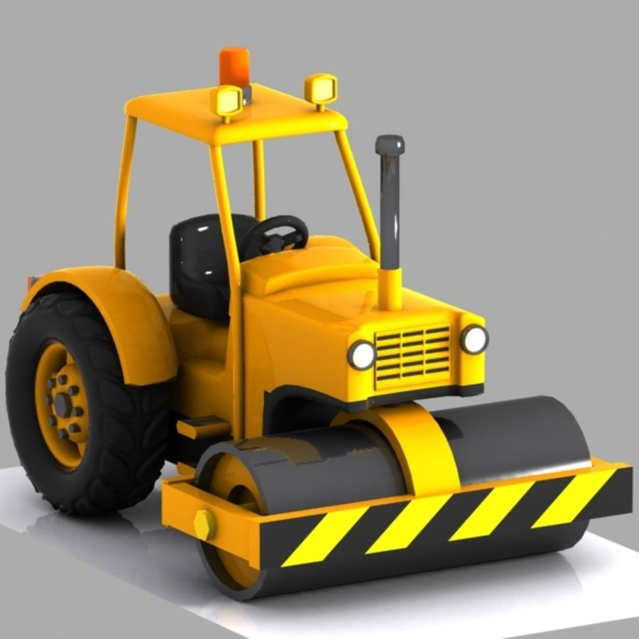 Cartoon Road Roller 2 royalty-free 3d model - Preview no. 2