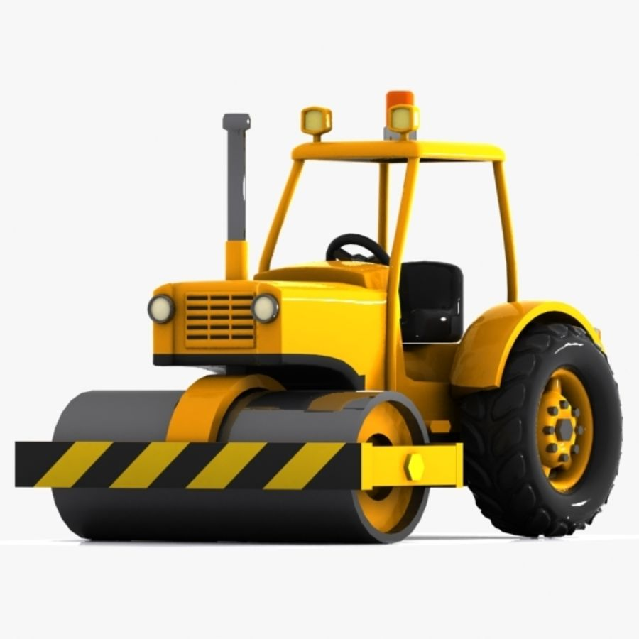 Cartoon Road Roller 2 royalty-free 3d model - Preview no. 4