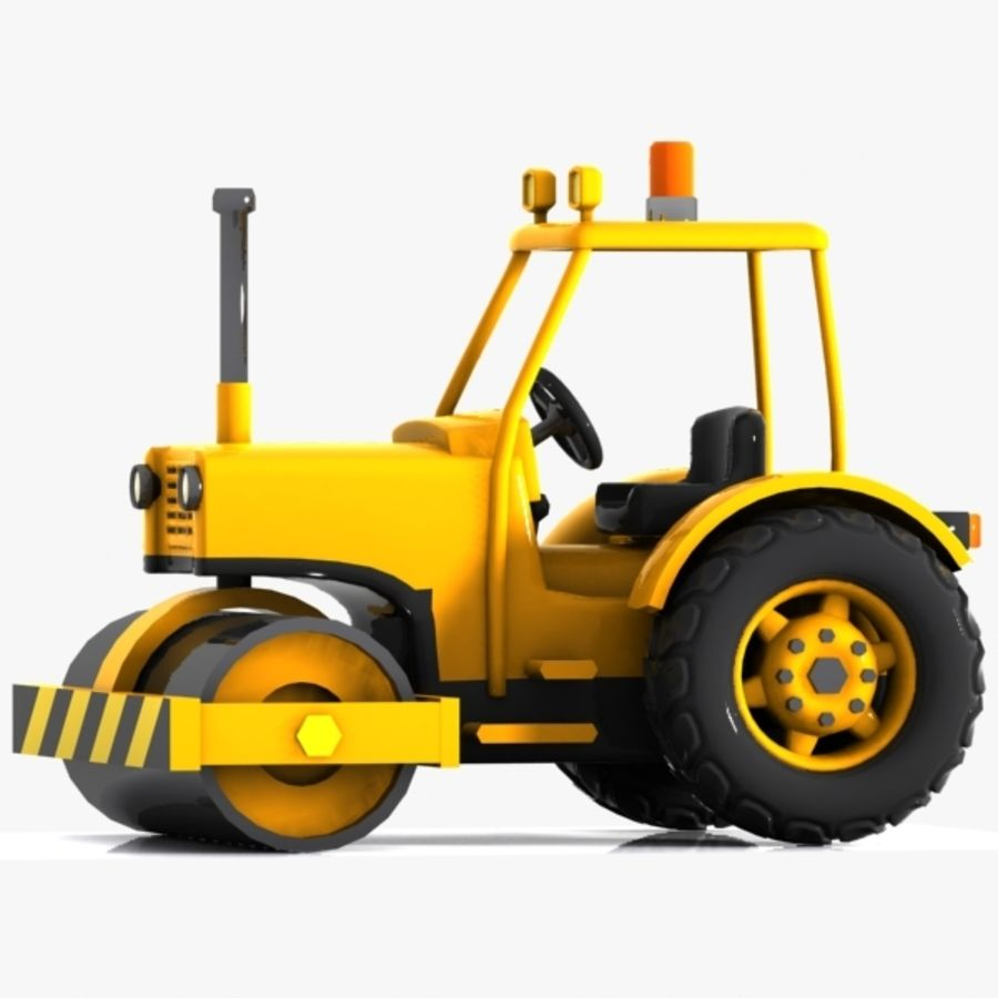 Cartoon Road Roller 2 royalty-free 3d model - Preview no. 5