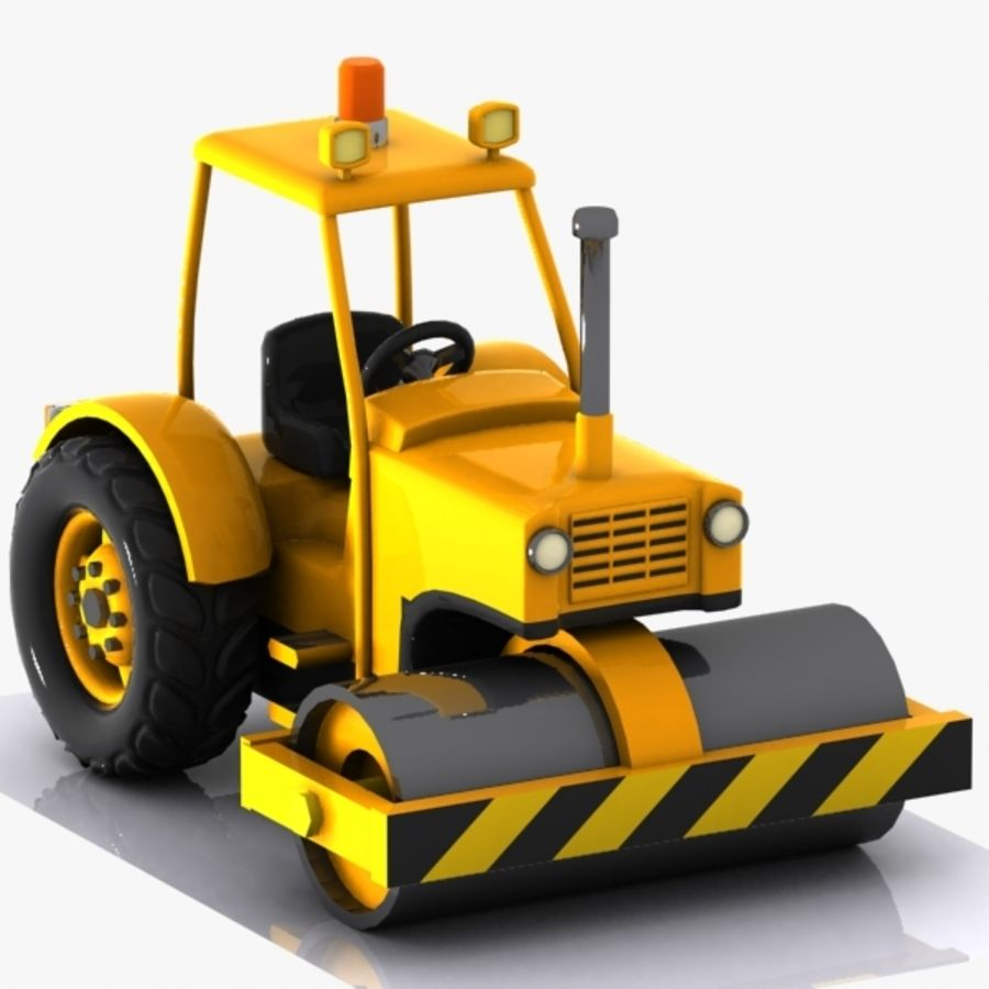 Cartoon Road Roller 2 royalty-free 3d model - Preview no. 7