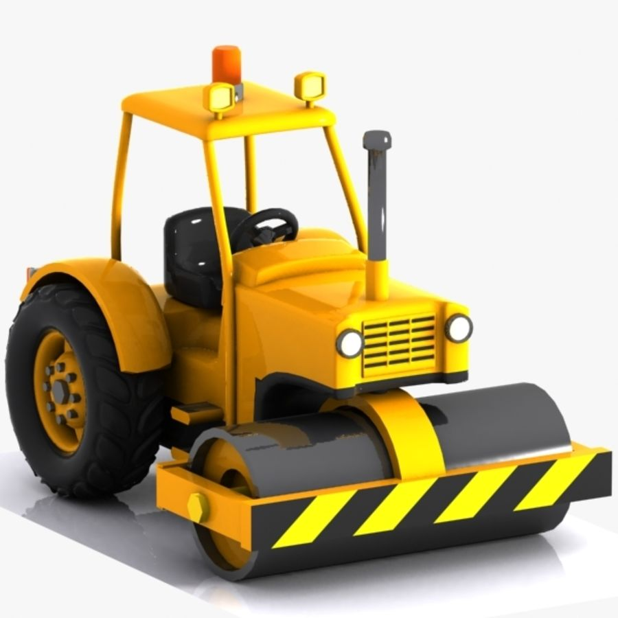 Cartoon Road Roller 2 royalty-free 3d model - Preview no. 1