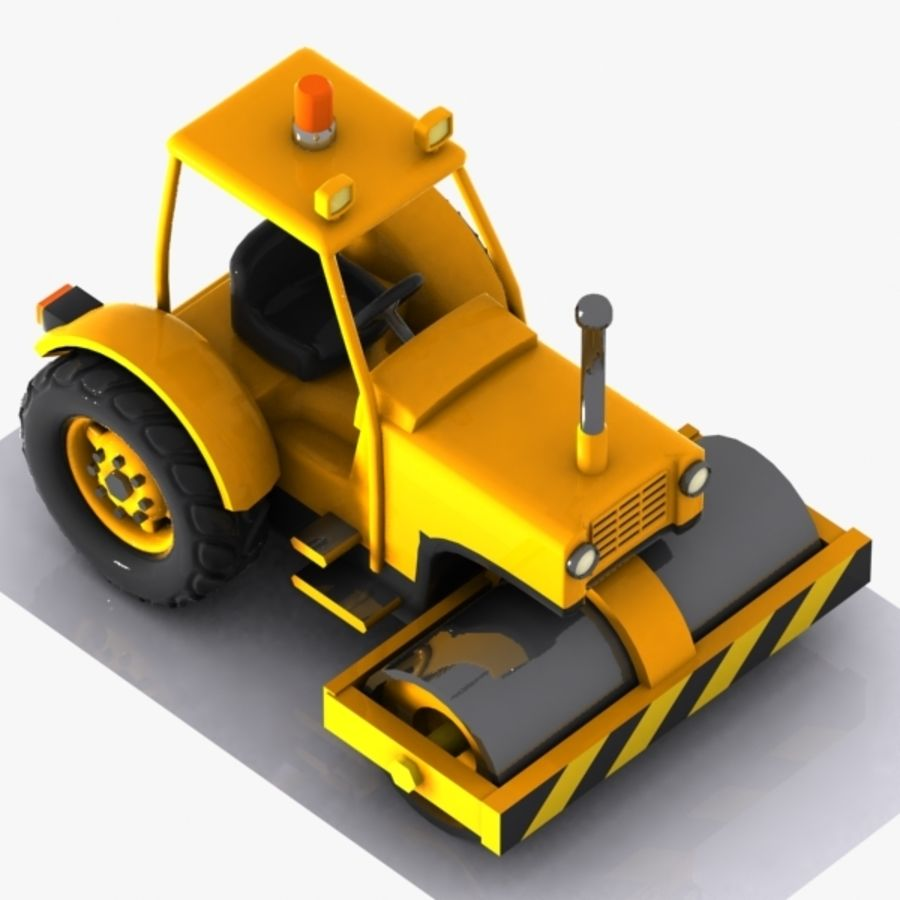 Cartoon Road Roller 2 royalty-free 3d model - Preview no. 3