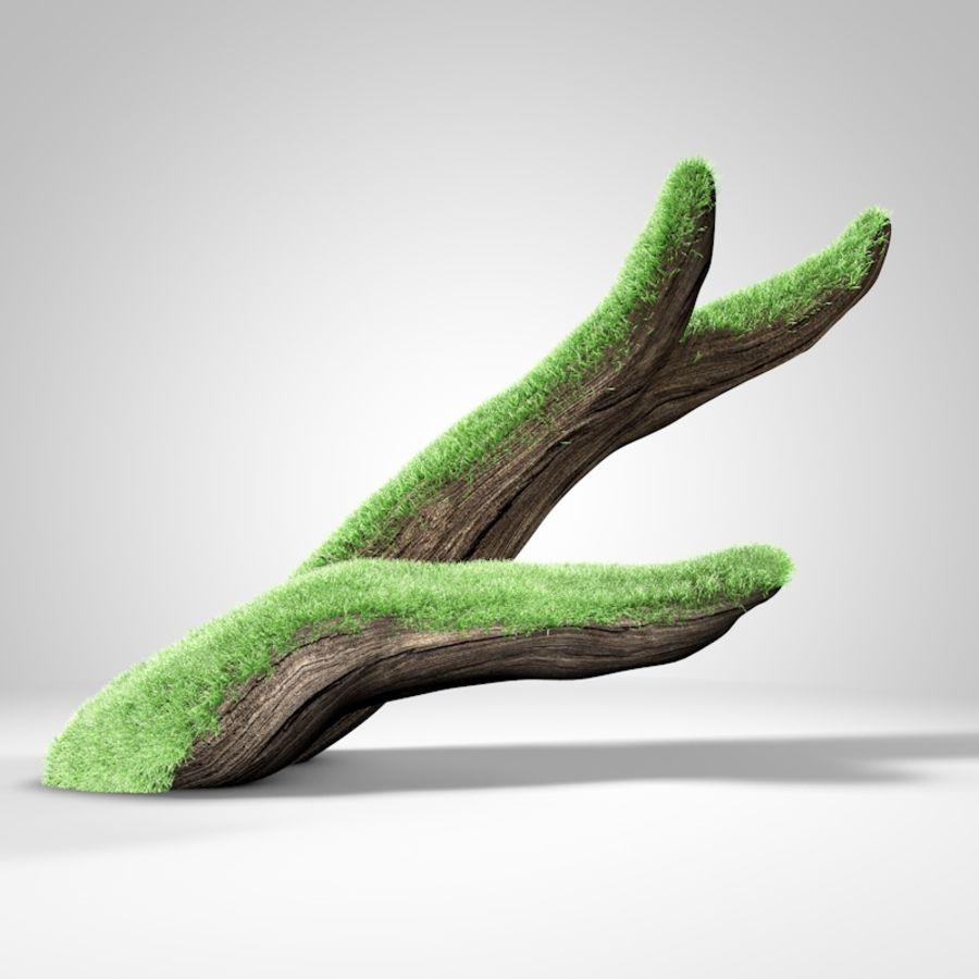 branche de bois pour aquarium royalty-free 3d model - Preview no. 1