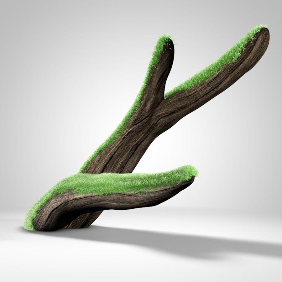branche de bois pour aquarium royalty-free 3d model - Preview no. 2
