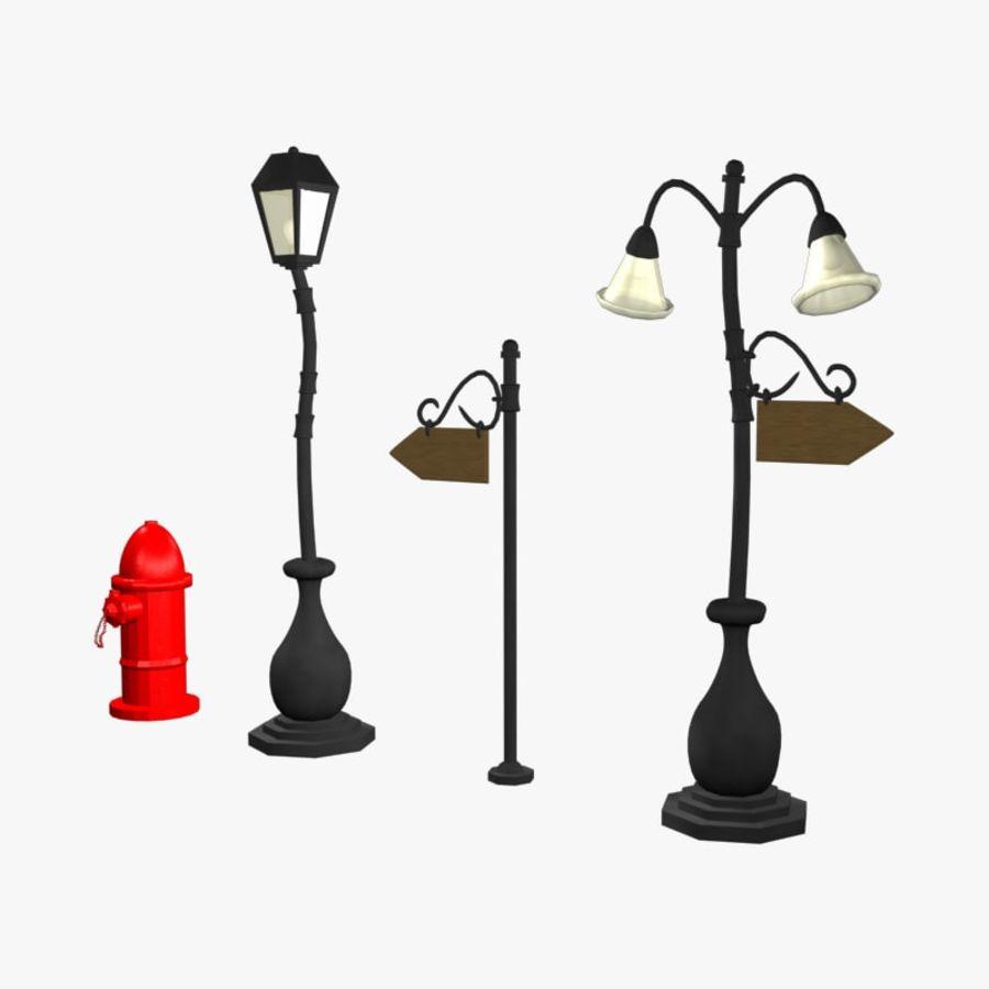 Cartoon Street Lampor royalty-free 3d model - Preview no. 1