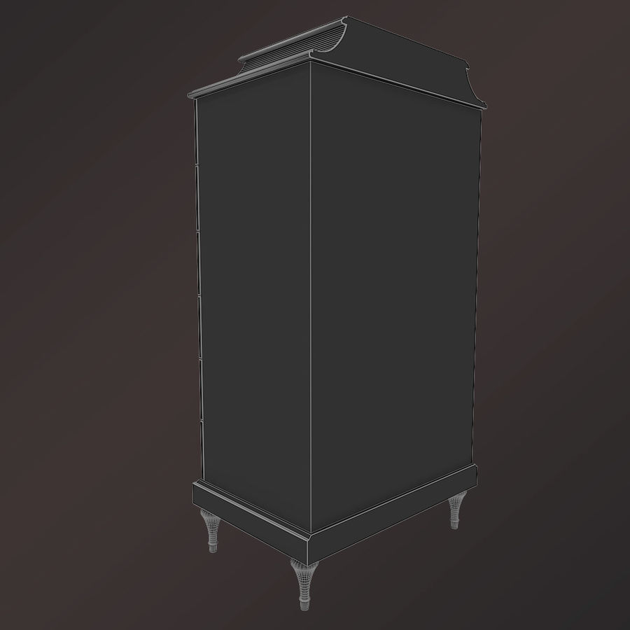 Baker Bureau royalty-free 3d model - Preview no. 6