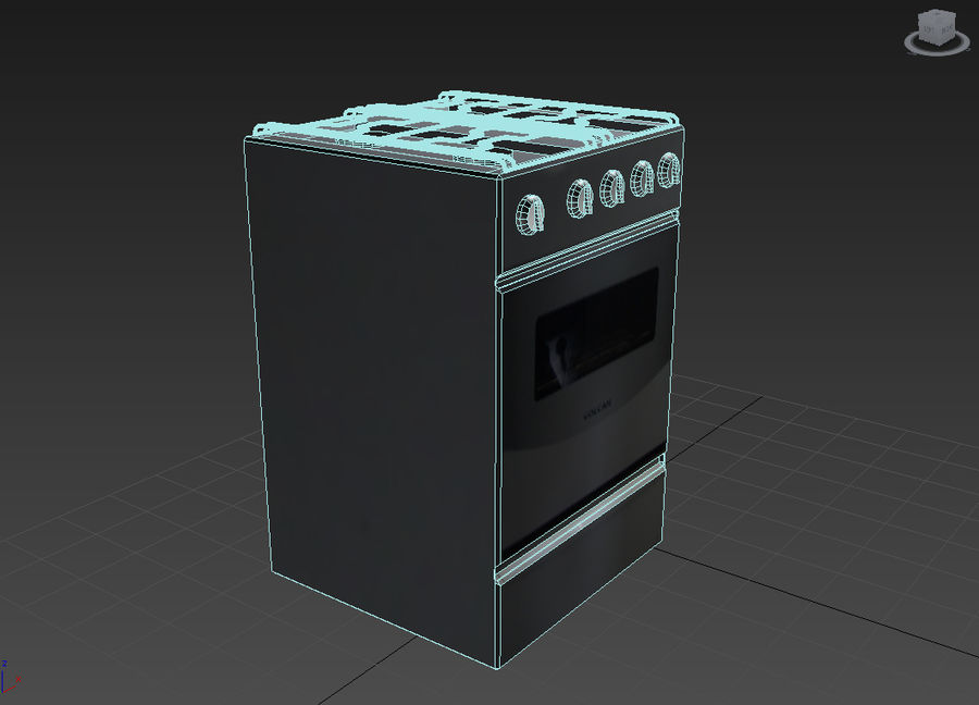 Oven prop royalty-free 3d model - Preview no. 4