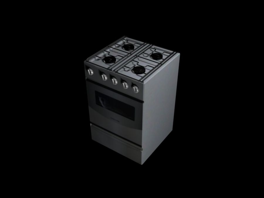 Oven prop royalty-free 3d model - Preview no. 2