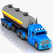 Cartoon Tanker Truck 3d model