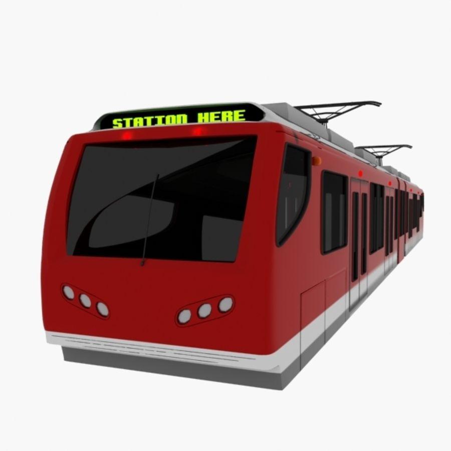 tram train metro royalty-free 3d model - Preview no. 2