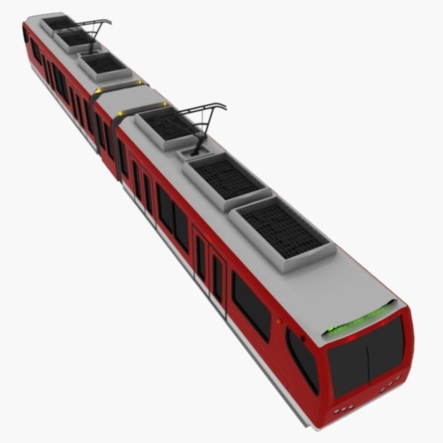 tram train metro royalty-free 3d model - Preview no. 5