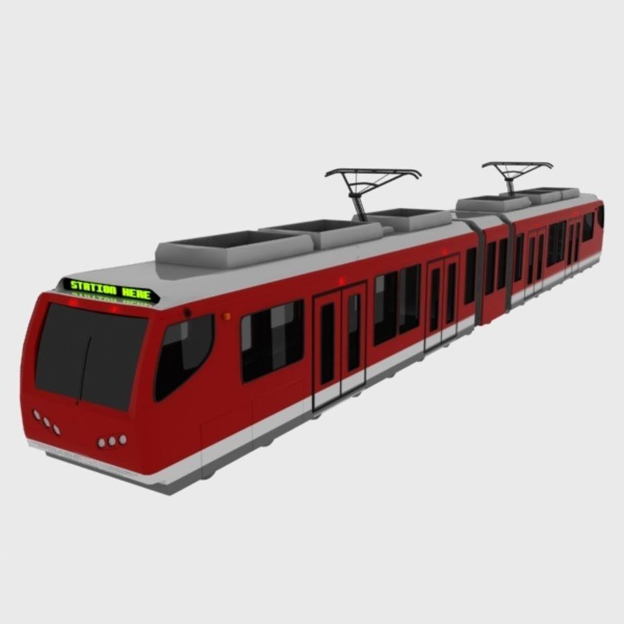 tram train metro royalty-free 3d model - Preview no. 1