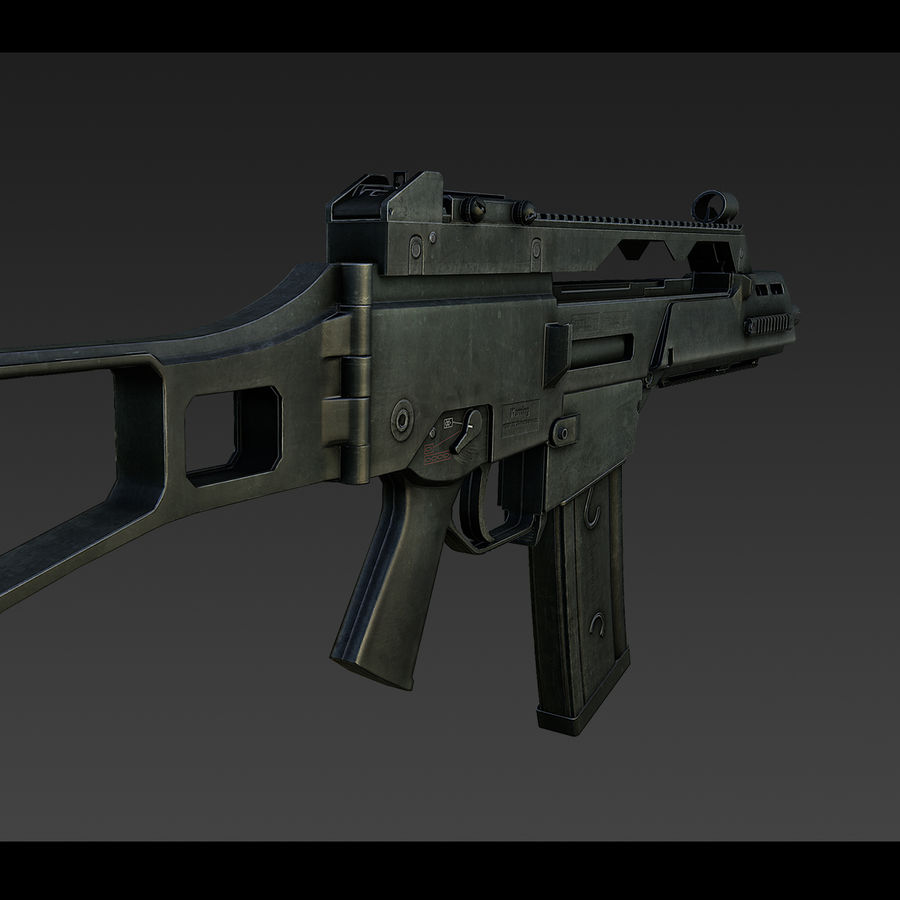 assault rifle 02 royalty-free 3d model - Preview no. 2