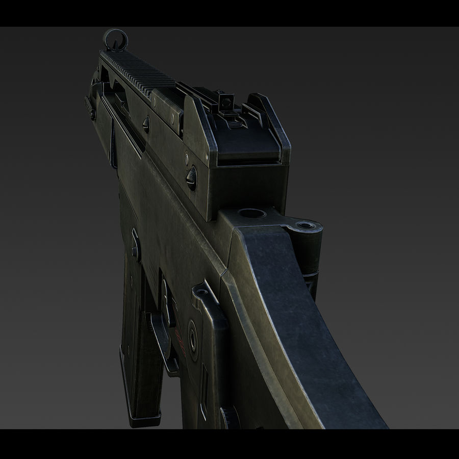 assault rifle 02 royalty-free 3d model - Preview no. 6
