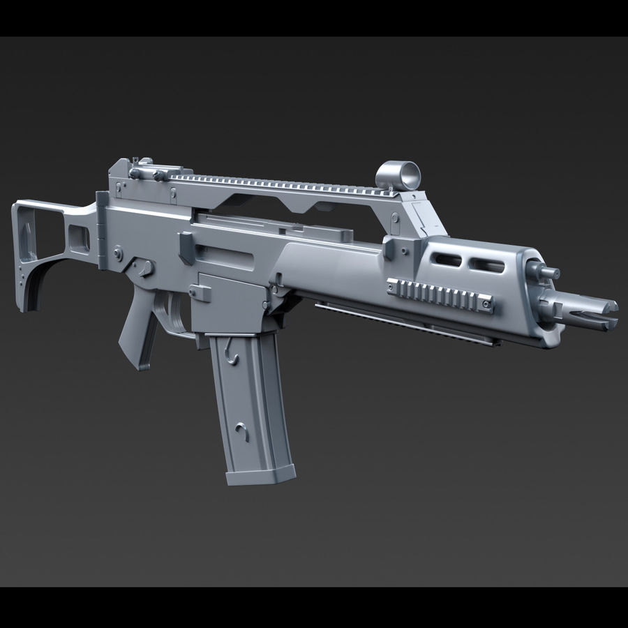 assault rifle 02 royalty-free 3d model - Preview no. 10
