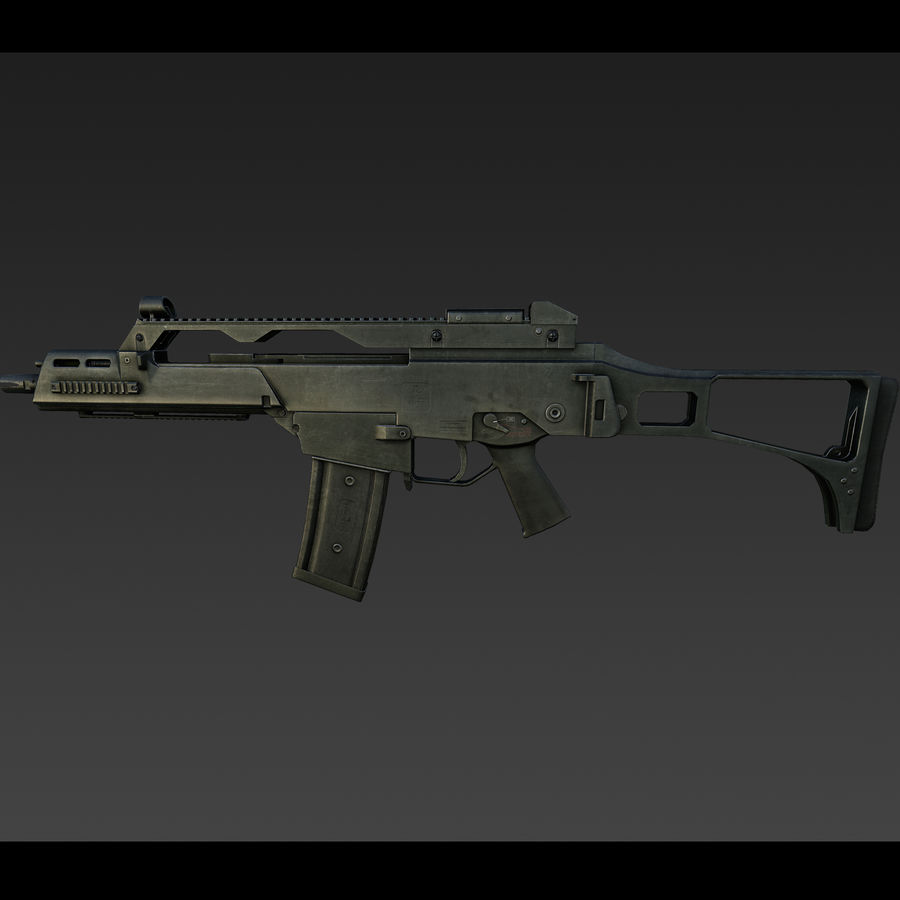 assault rifle 02 royalty-free 3d model - Preview no. 4