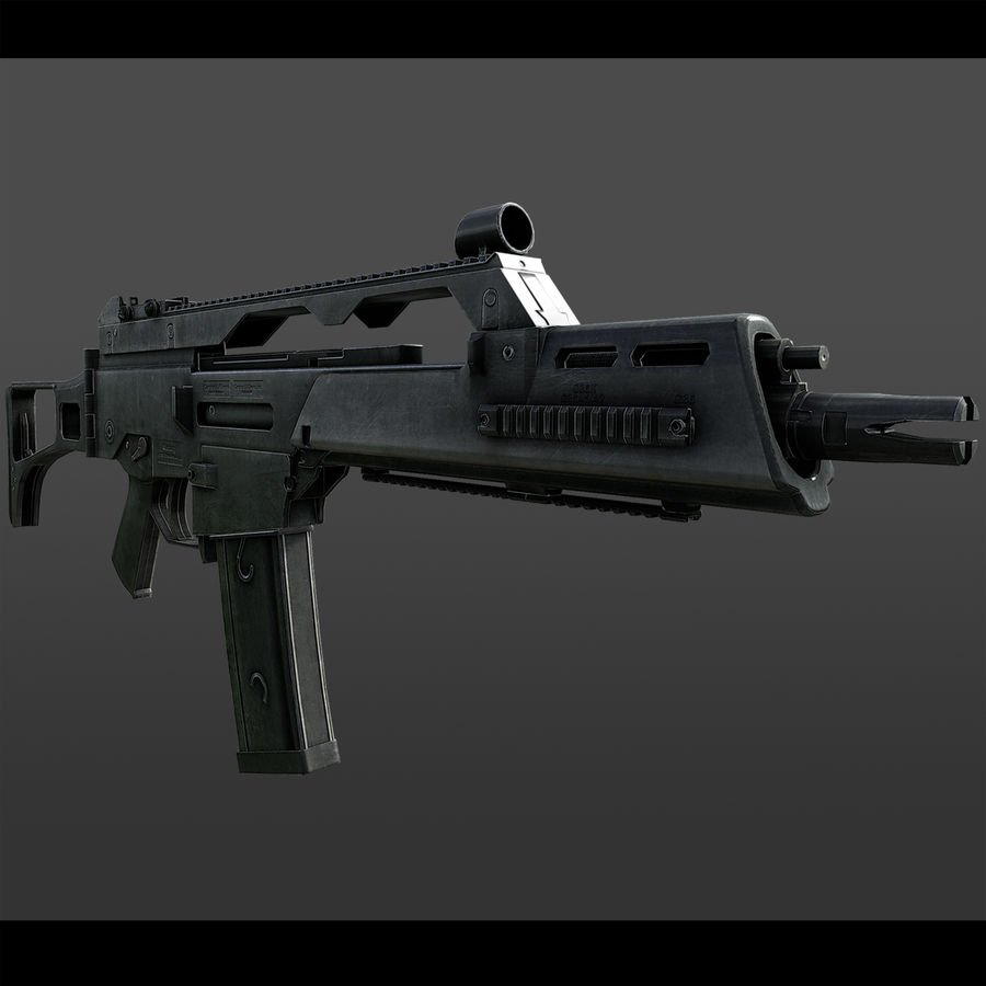 assault rifle 02 royalty-free 3d model - Preview no. 1