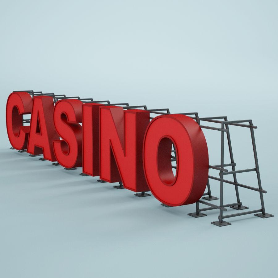 Znak kasyna royalty-free 3d model - Preview no. 4