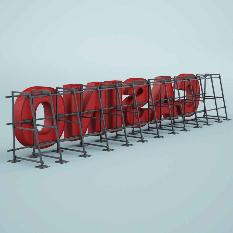 Znak kasyna royalty-free 3d model - Preview no. 5