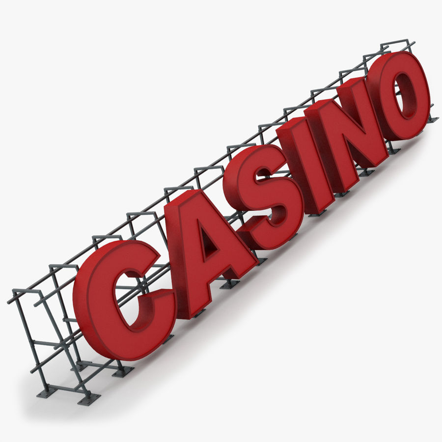 Znak kasyna royalty-free 3d model - Preview no. 1