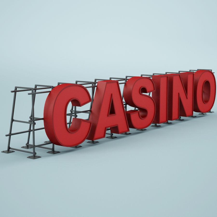 Znak kasyna royalty-free 3d model - Preview no. 3