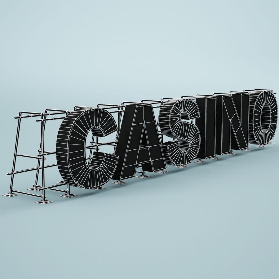Znak kasyna royalty-free 3d model - Preview no. 7