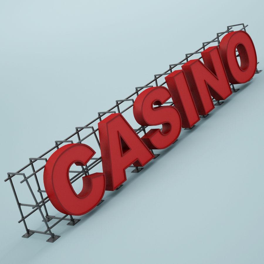 Znak kasyna royalty-free 3d model - Preview no. 2