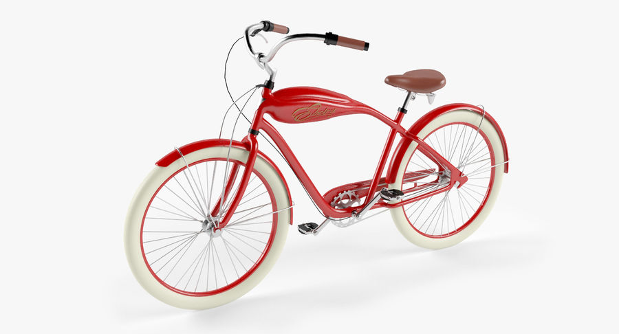 Retro Bicycle royalty-free 3d model - Preview no. 2